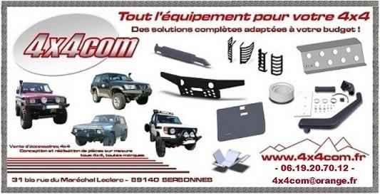 Vente d'accessoires 4x4 et Conception et réalisations d'équipements sur mesure pour tous 4x4 et toutes marques